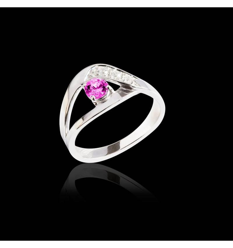 Verlobungsring mit rosa Saphir Anaelle