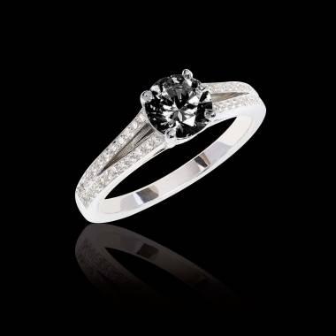Verlobungsring mit schwarzem Diamant Marie