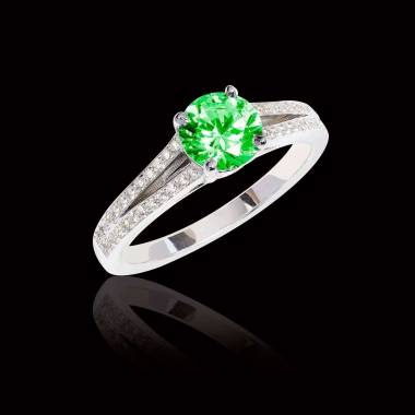 Verlobungsring mit Smaragd Marie