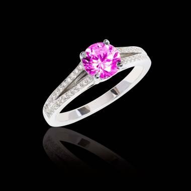 Verlobungsring mit rosa Saphir Marie