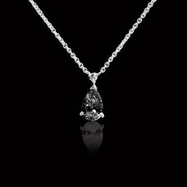 Schwarzer Diamantanhänger Goutte d'amour