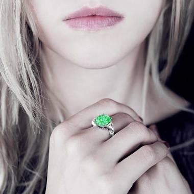 Smaragdring Stéphanie