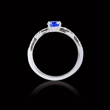 Bague de fiançailles saphir bleu Noémie