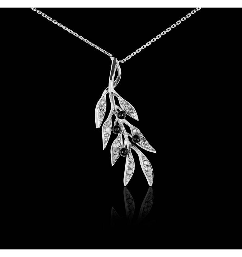 Pendentif diamant Branche d'Olivier