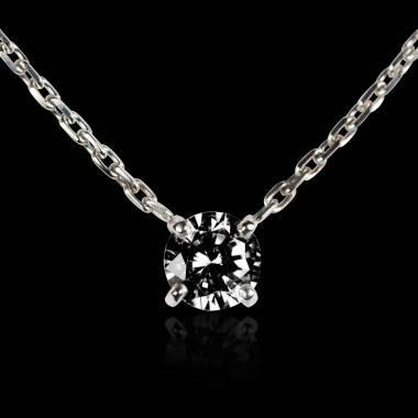 Schwarzer Diamantanhänger Around me