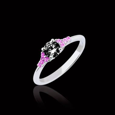 Bague diamant noir Virginie