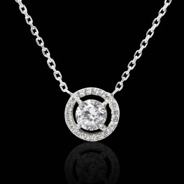 Pendentif diamant rond Soleil