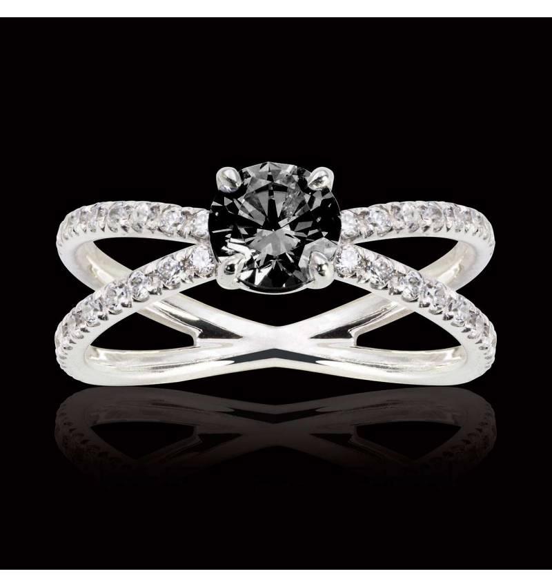 Bague diamant noir Amandine