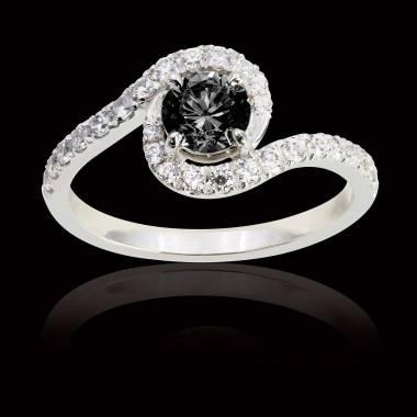 Bague diamant noir Lilou