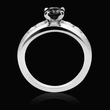 Bague diamant noir Léa