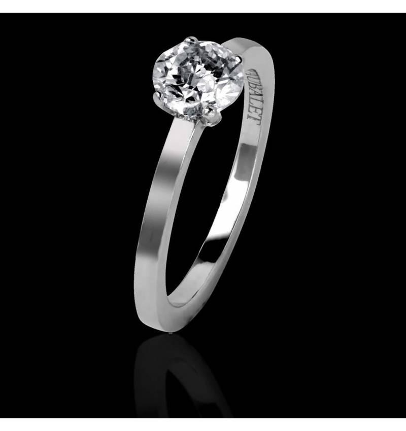 Diamantring in Weissgold Judith Solo