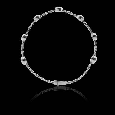 Bracalet diamant entrelacé