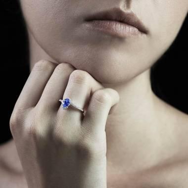 Bague saphir bleu Lucie