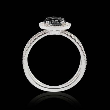 Bague diamant noir Barbara