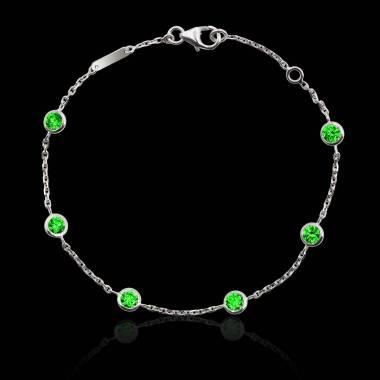 Bracelet émeraudes Galets