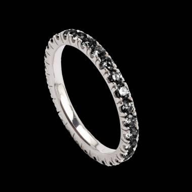 Trauring in Weissgold mit Diamanten Eve