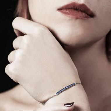 Bracelet saphir bleu Pavé