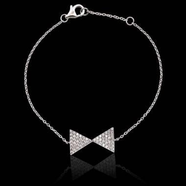 Bracelet diamant Noeud Papillon
