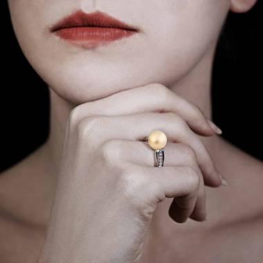 Bague perle gold Melina