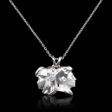 Pendentif diamant Gémeaux