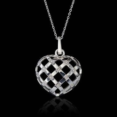 Pendentif diamant Coeur...