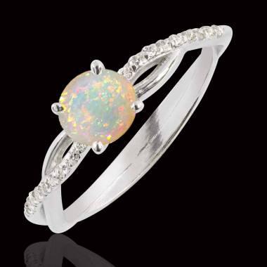 Bague opale blanche Noémie