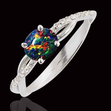 Bague opale noire Noémie