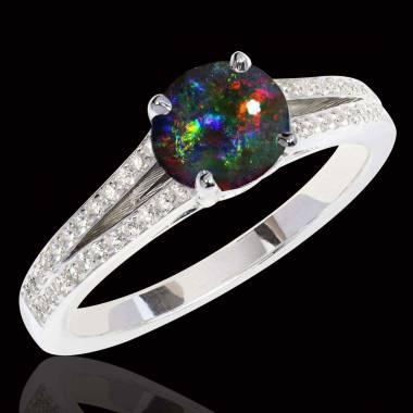 Bague opale noire Marie