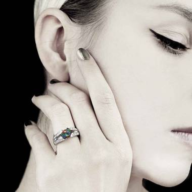 Bague opale noire Isabelle