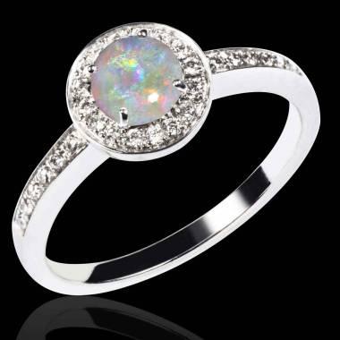 Bague opale blanche Rekha