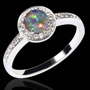 Bague opale noire Rekha