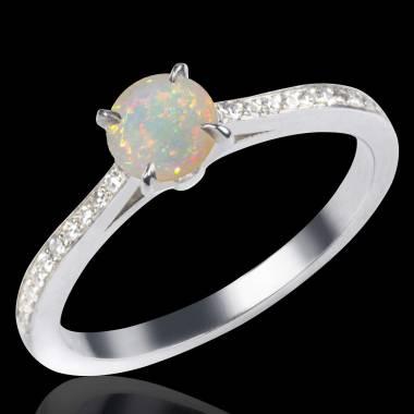 Bague opale blanche Elodie
