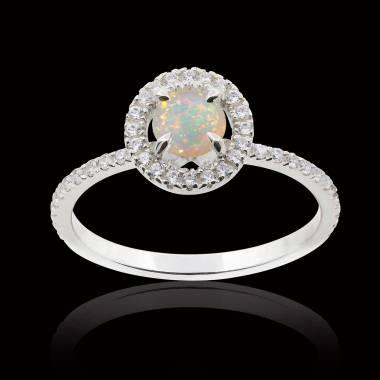 Bague opale blanche Isaure