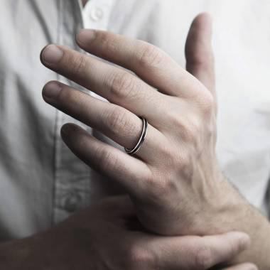 Lackierter Verlobungsring in Weissgold  Full laque