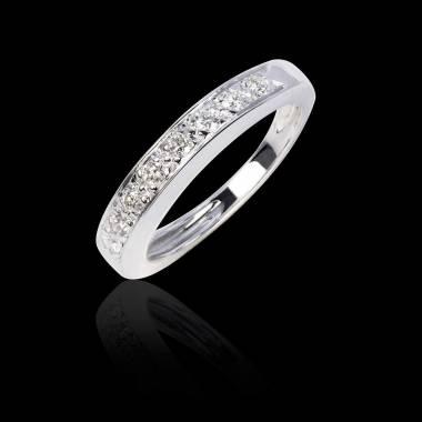 Trauring aus Platin mit Diamanten Deliciae