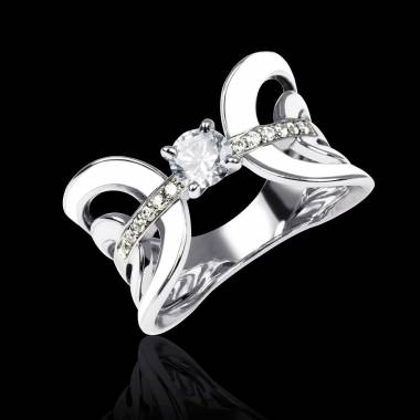 Diamantring mit Lack Corset