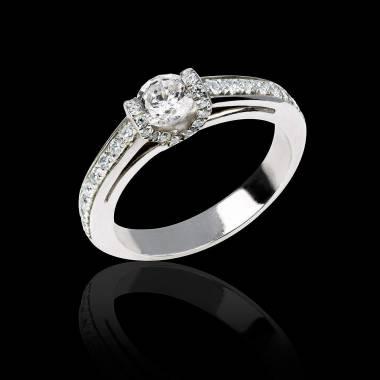 Verlobungsring mit Diamant in Weissgold Hera