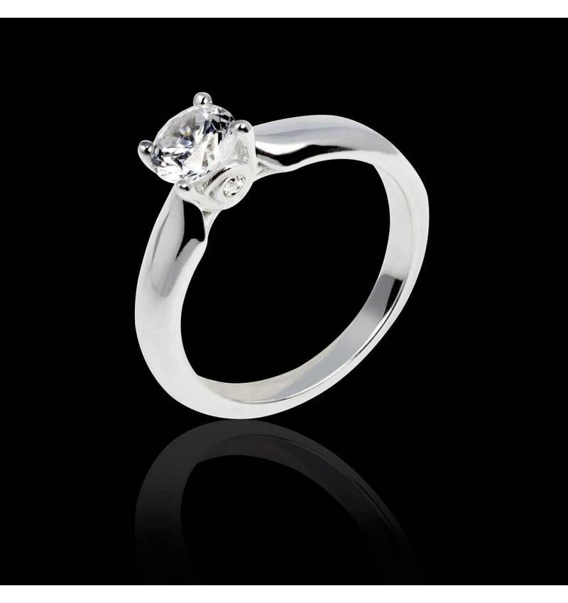 Diamantsolitärring in Weissgold Motherhood