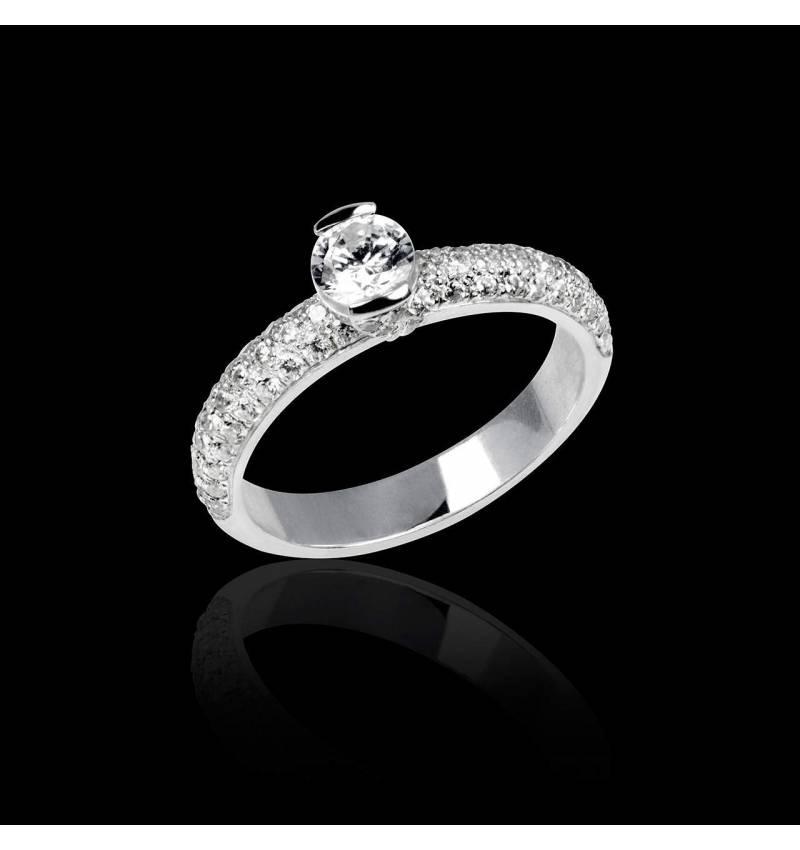 Verlobungsring mit Diamant in Weissgold Orphée