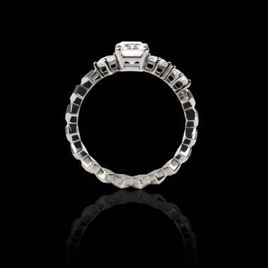 Verlobungsring mit Diamant in Weissgold Elsa