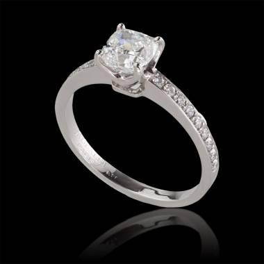 Verlobungsring mit Diamant in Weissgold Sandy