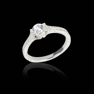 Verlobungsring mit Diamant in Weissgold Mount Olympus