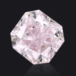 Diamant Fancy purplish pink radiant - Jaubalet
